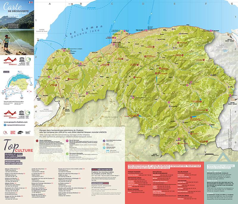 Carte de découverte du Géoparc du Chablais Recto