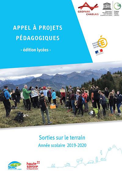Couverture Appel à projets pédagogiques Lycée 2020-2021 du Géoparc du Chablais