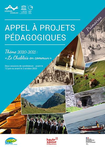 Couverture de l' appel à projets pédagogiques Primaires 2020-2021 du Géoparc du Chablais