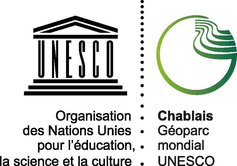 Logo de UNESCO Géoparc mondial du Chablais
