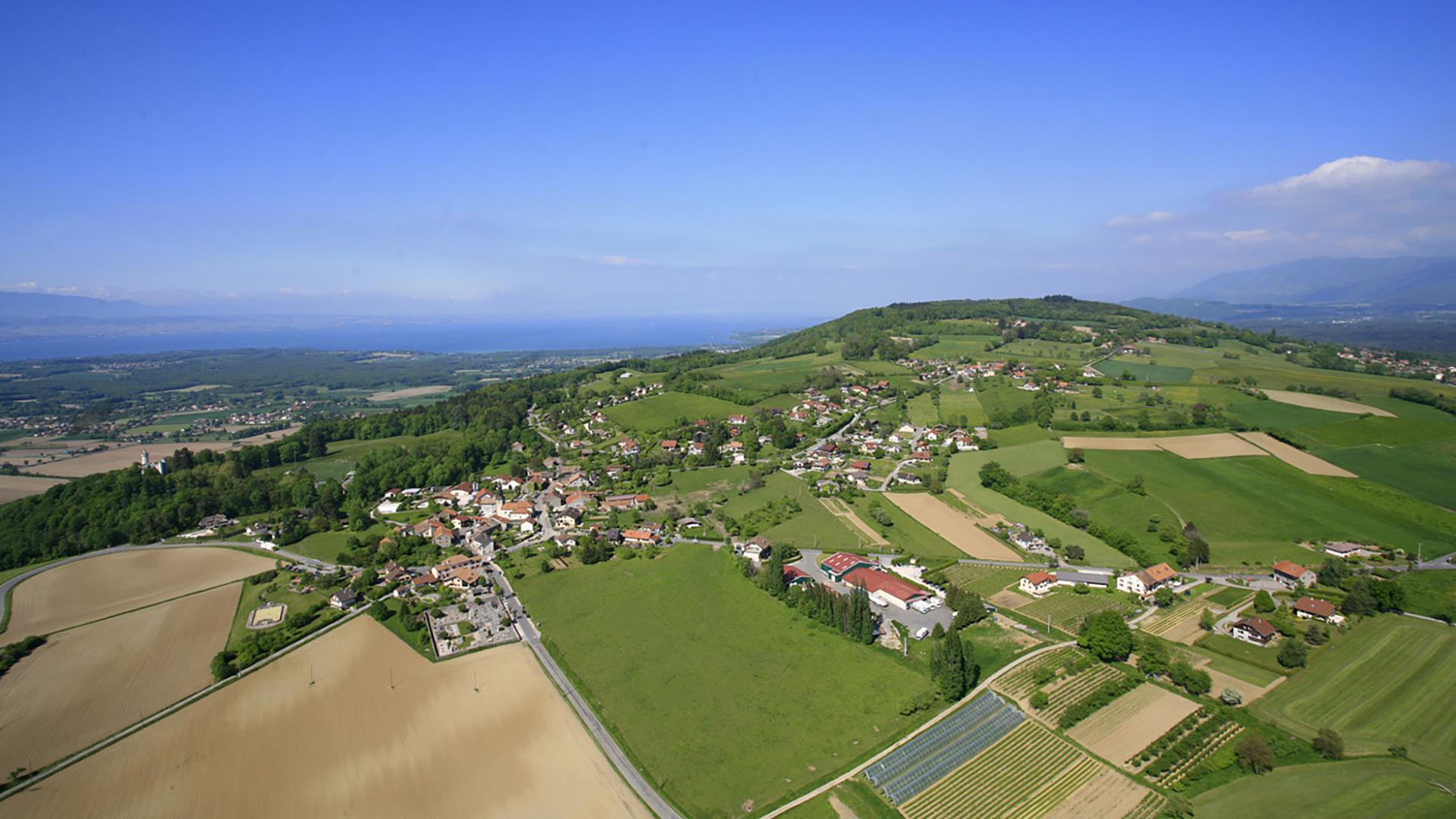 vue sur le village de ballaison