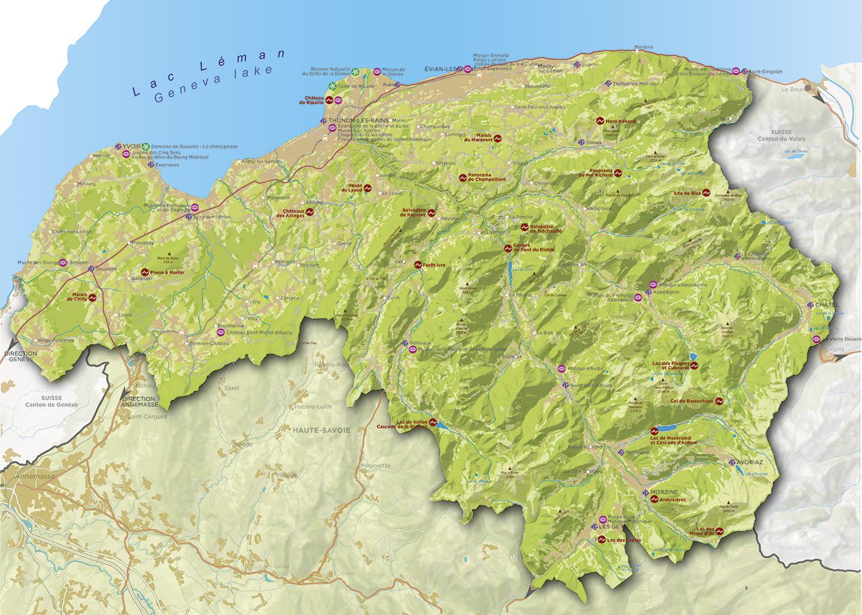 Carte touristique du Chablais
