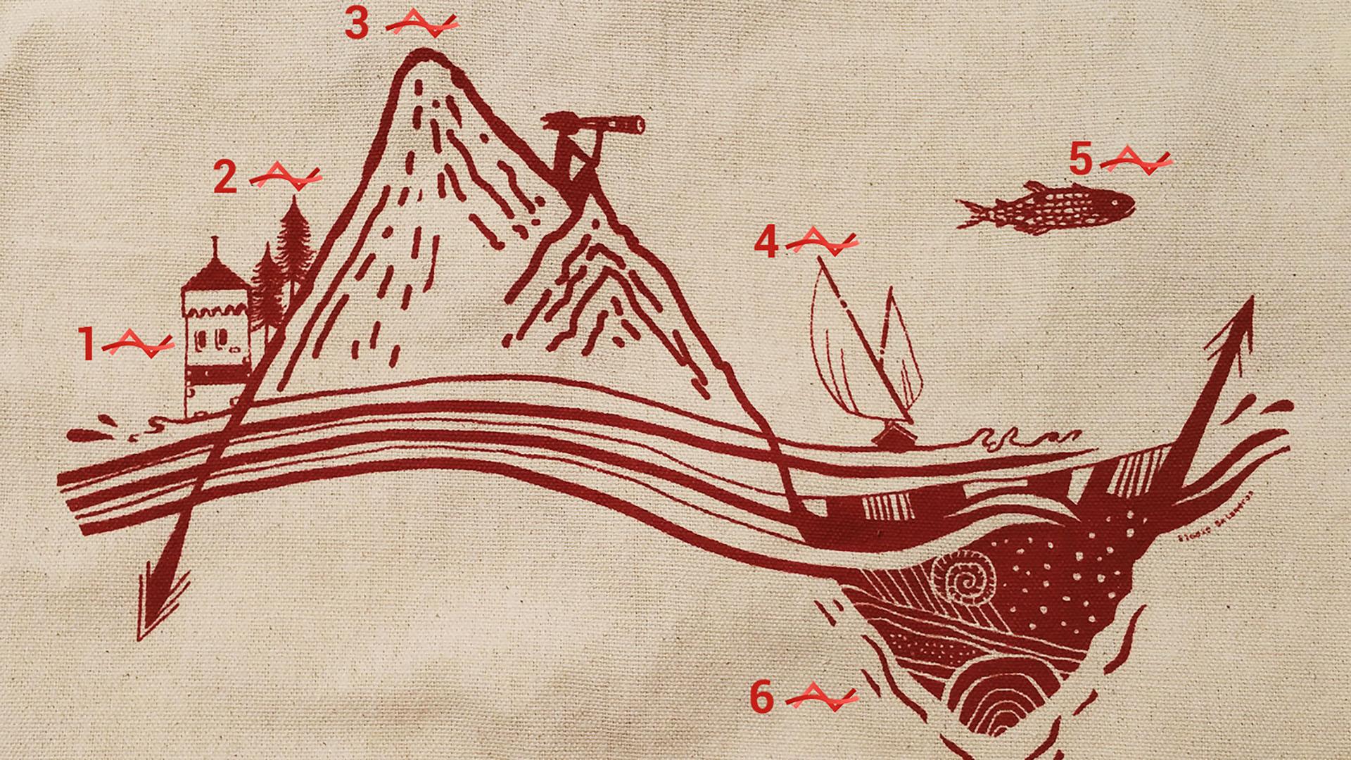 illustartion du géoparc du chablais faite par elodie balandras