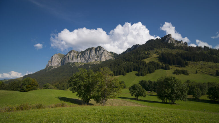 Vue sur le mont Bénand et Mont César