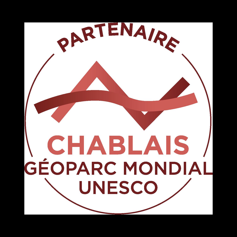 Estampille Partenaire du Géoparc mondial UNESCO du Chablais