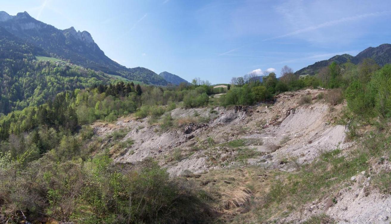 Glissement de terrain à Reyvroz Haute-sAvoie