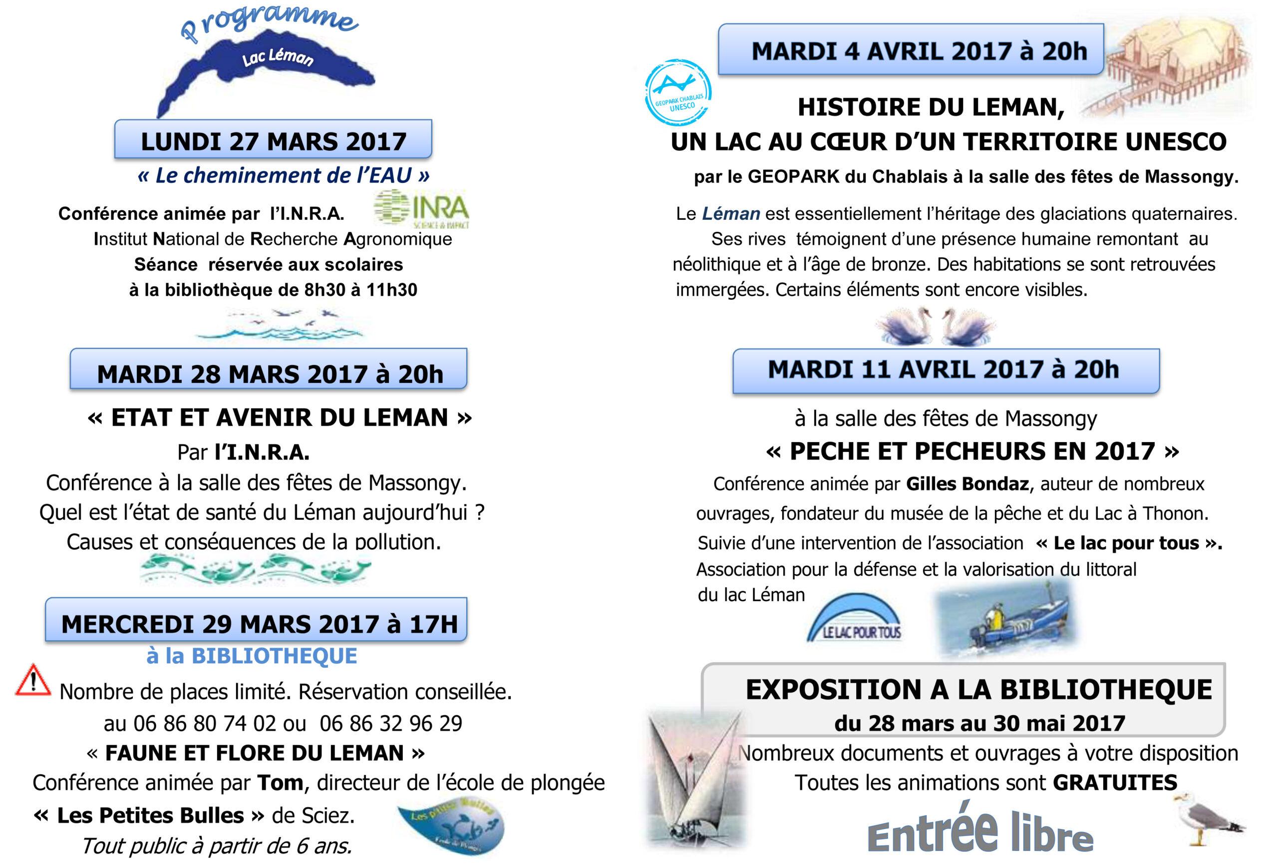 programme expo léman massongy 2017