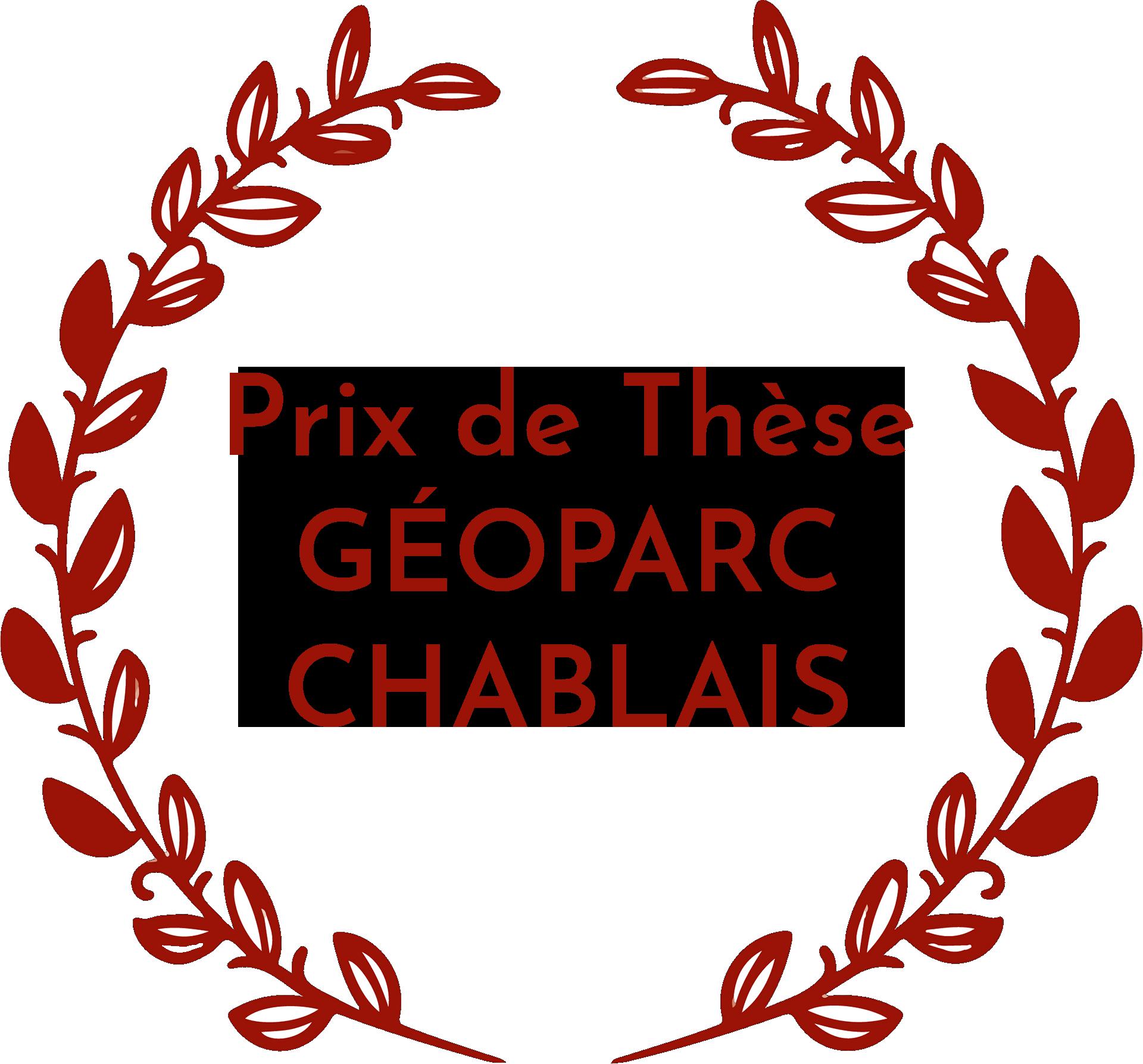 logo du prix de thèse du géoparc du chablais