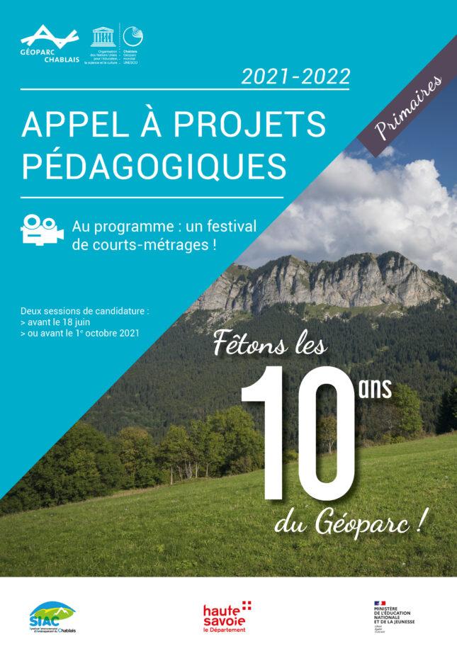 Couverture de l' appel à projets pédagogiques Primaires 2021-2022 du Géoparc du Chablais