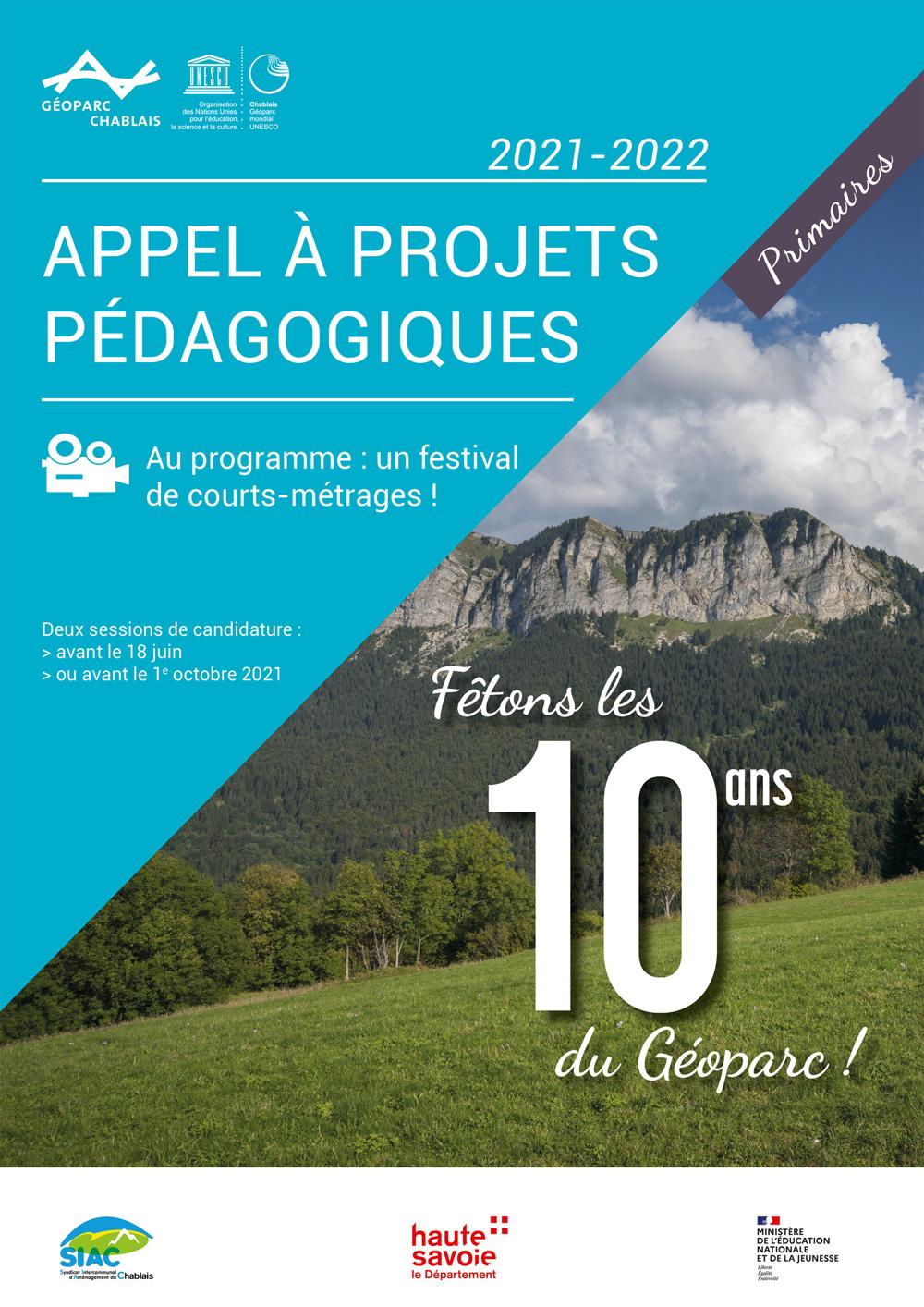 Appel à projets primaires 10 ans du Géoparc