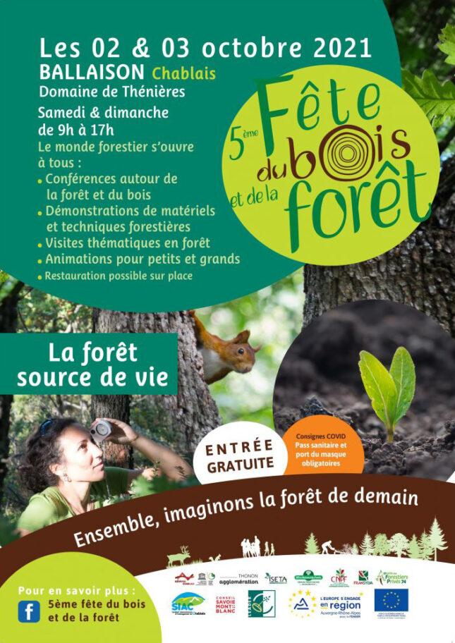 Affiche de la 5e fête du bois et de la forêt